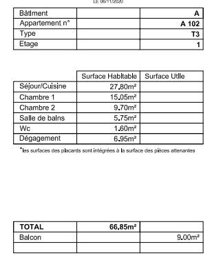 PONT DE BEAUVOISIN F3 NEUF AVEC BALCON