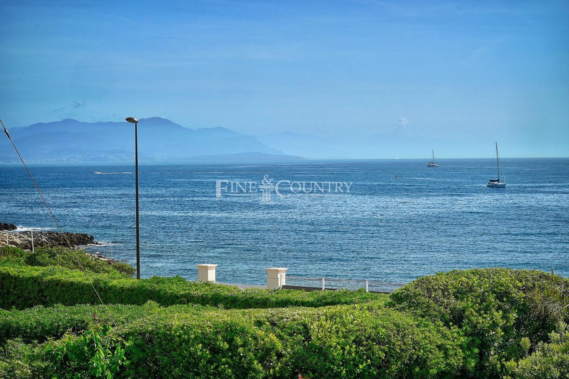 Elegant seafront villa for sale on the prestigious Cap d'Antibes.