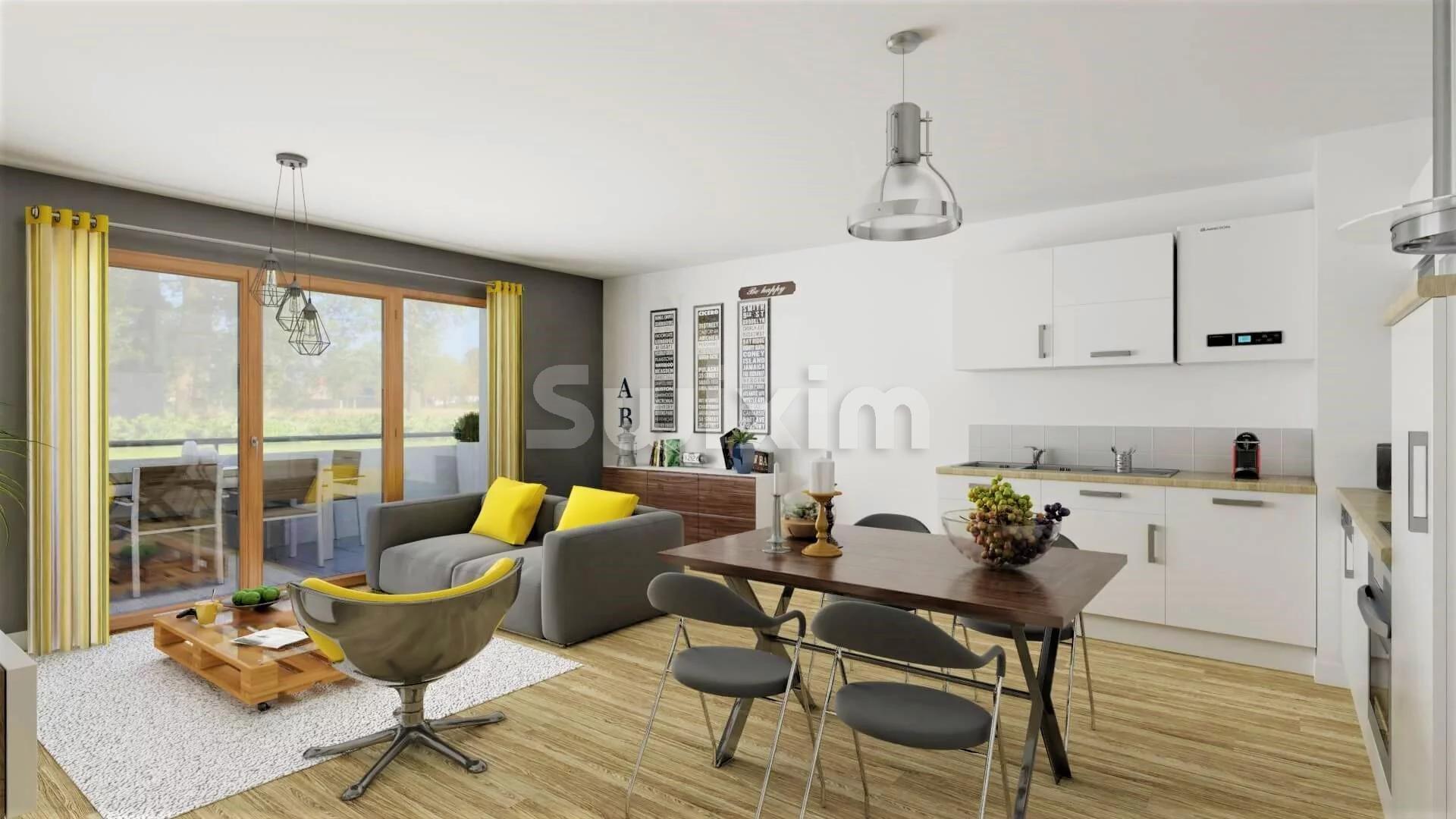 A GRESY-SUR-AIX, appartements T4 avec ASCENSEUR et terrasse