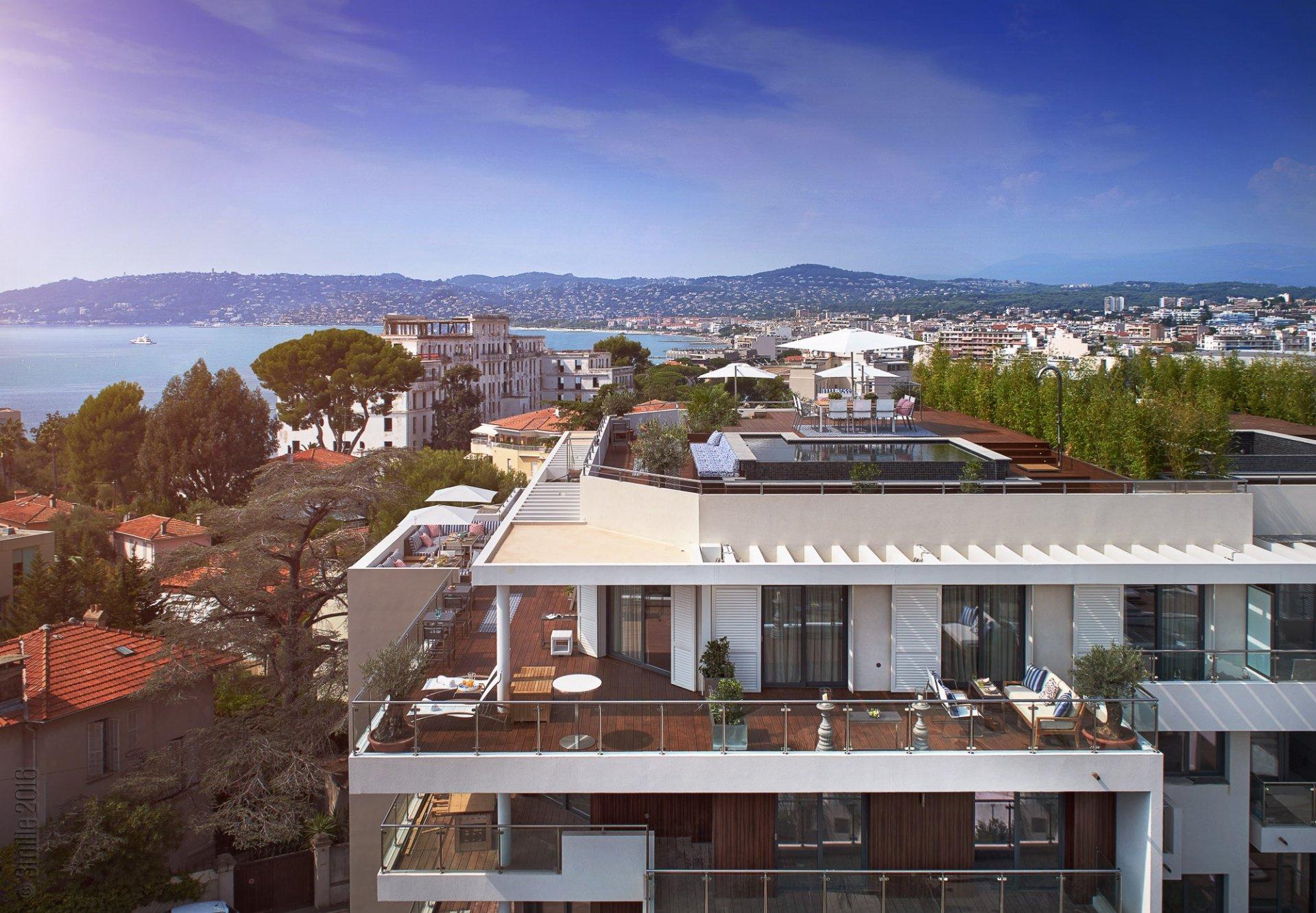 Cap d'Antibes - Lekker penthouse-leilighet med privat pool i lukseriøs ny residens - B42