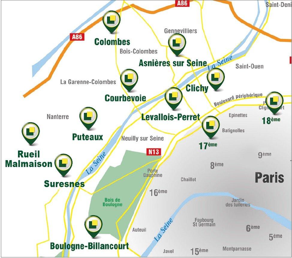 PARKING DOUBLE ENFILADE SECTEUR REPUBLIQUE / PROCHE LA DÉFENSE METRO 1