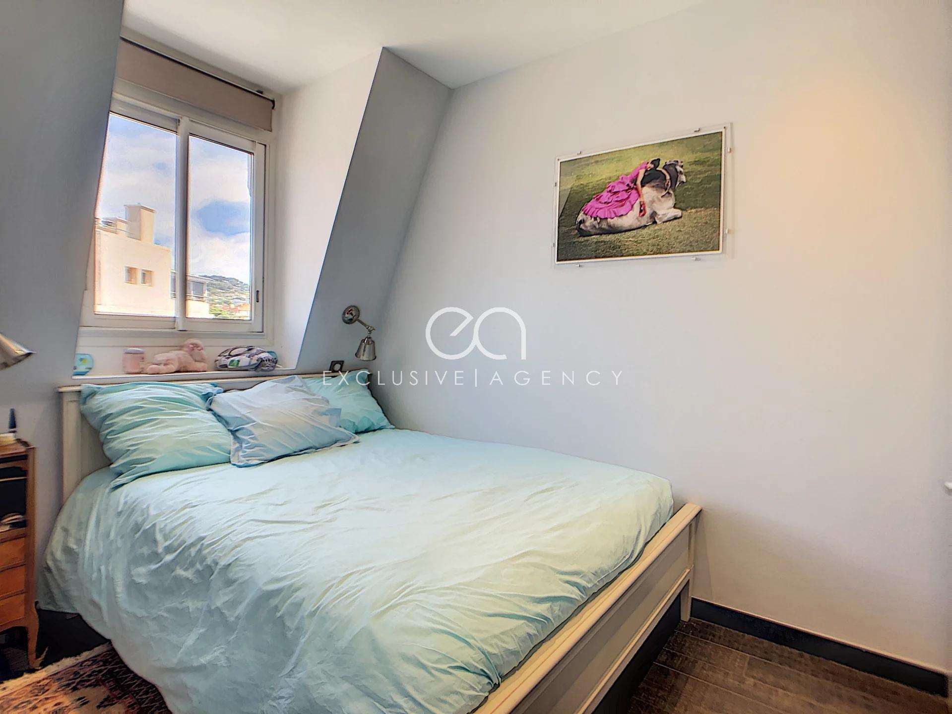 Cannes Banane (centre) Appartement 2 pièces 42m2 dernier étage