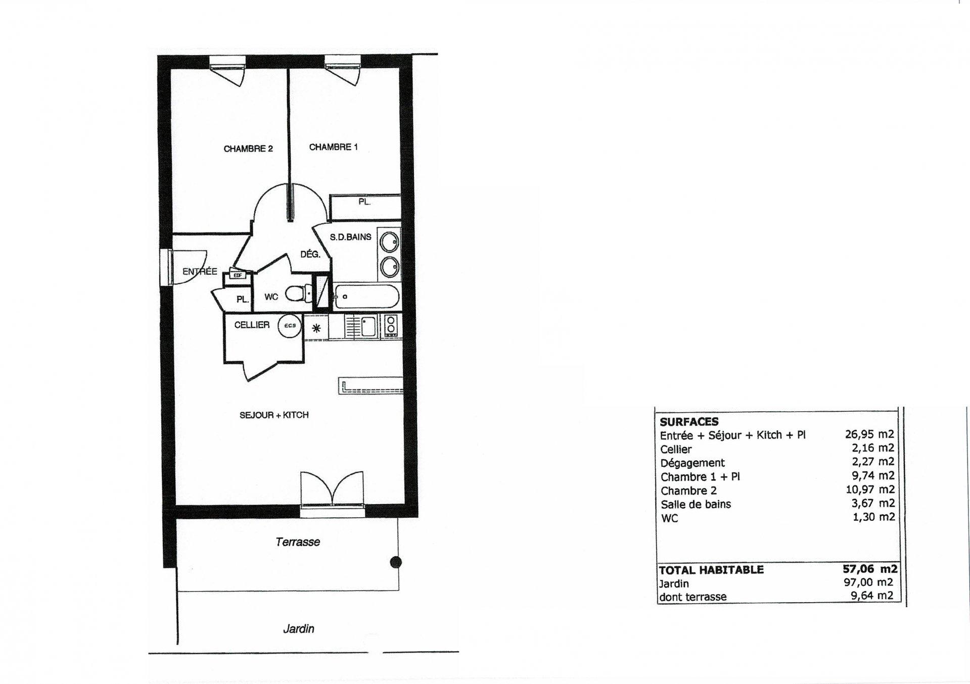 Vente Appartement - L'Union