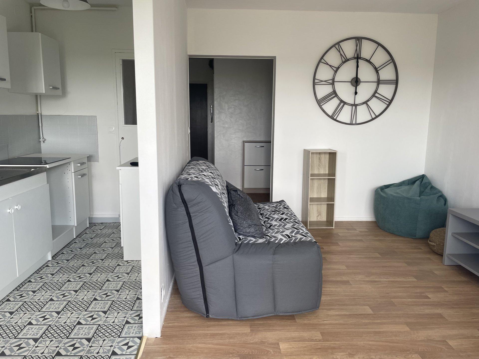 Grand studio meublé en très bon état