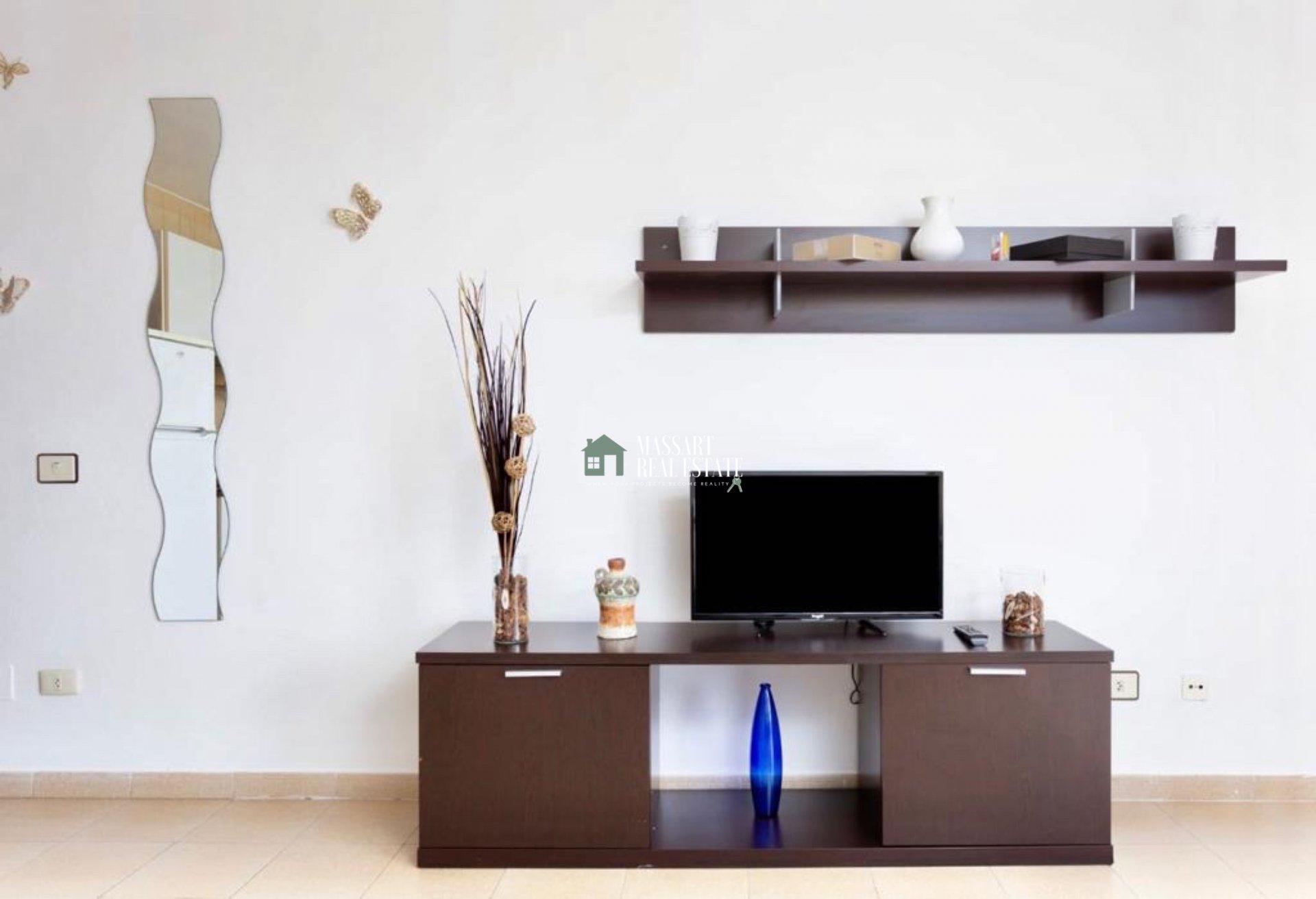 Komplett möblierte moderne Wohnung in sehr gutem Zustand in der Wohnanlage Las Bouganvillas in Torviscas Alto (Adeje).