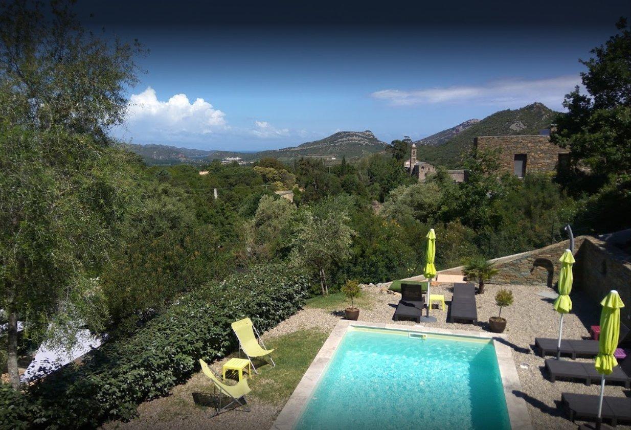 Très belle Villa vue mer-piscine a Oletta - Golfe de St Florent