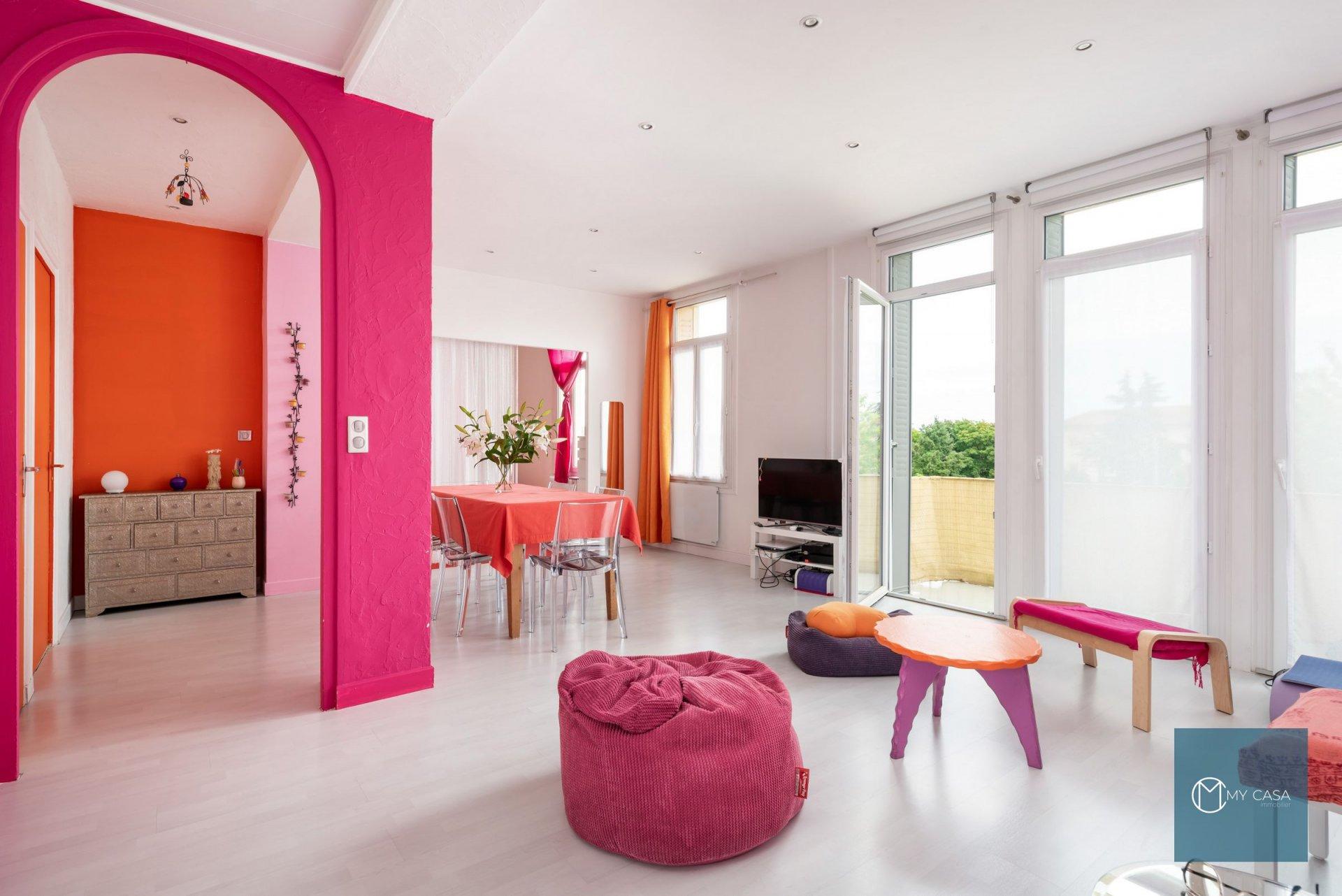 Oullins - Appartement au dernier étage avec balcon