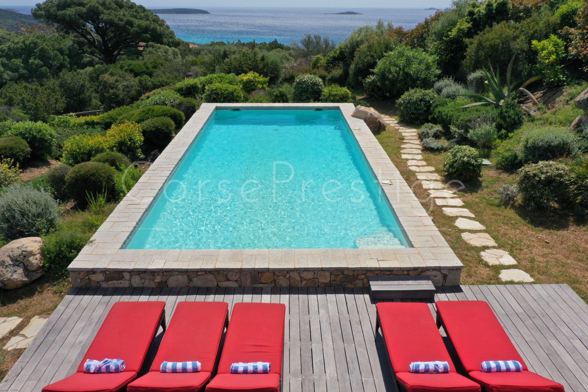 luxury villa for rent in corsica - porto vecchio - palombaggia image1