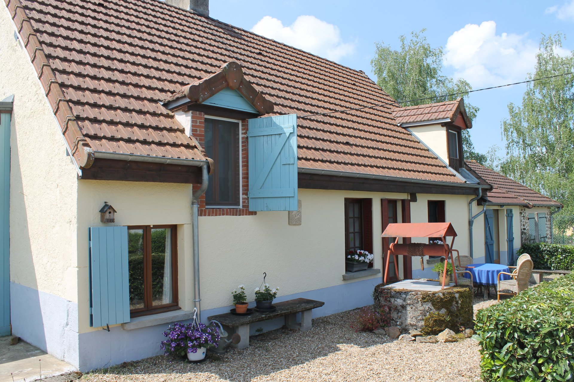Renoviertes Haus mit Aussicht zu verkaufen südlich von Morvan