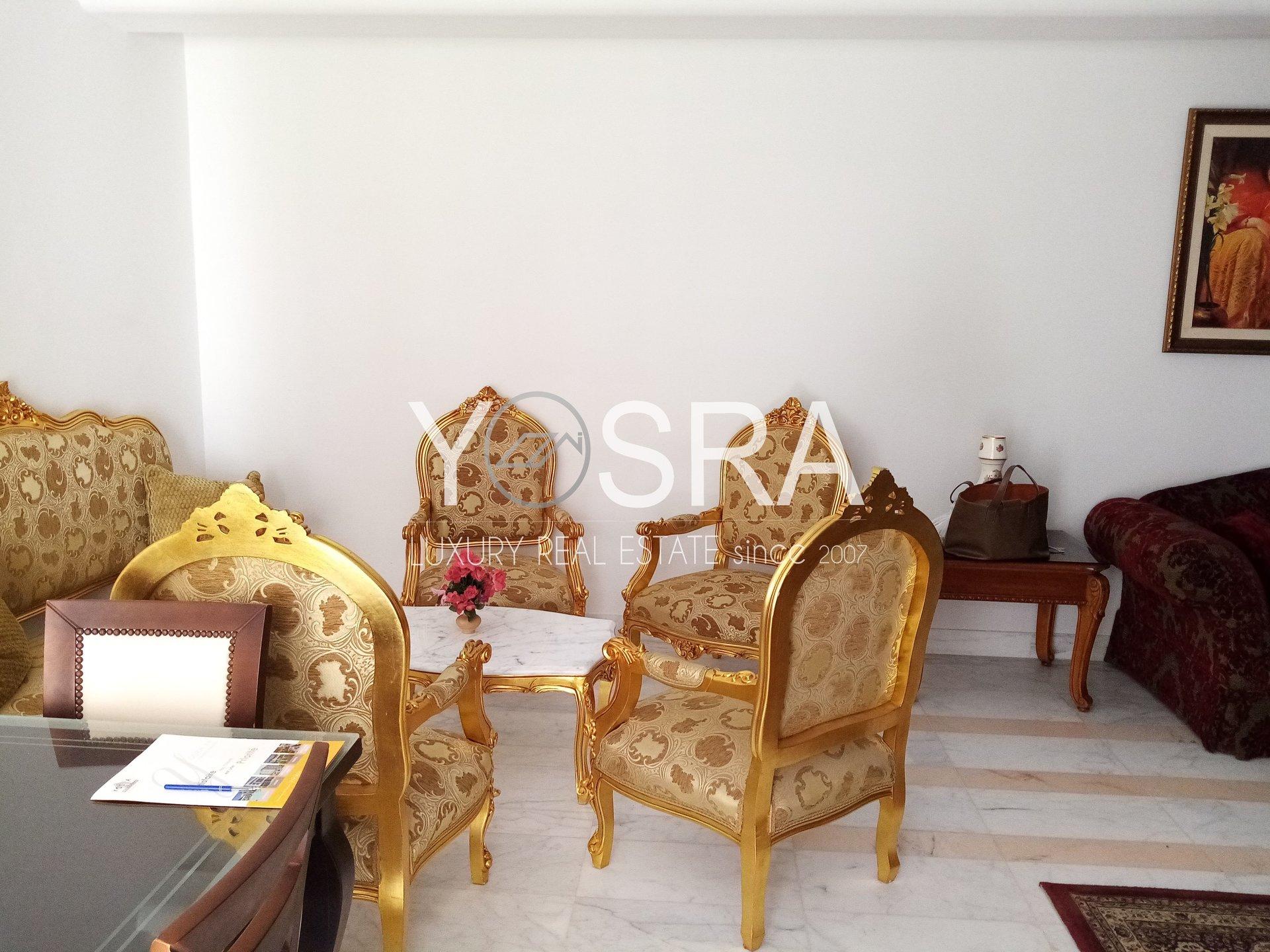 appartement s+3 meublé avec jardin