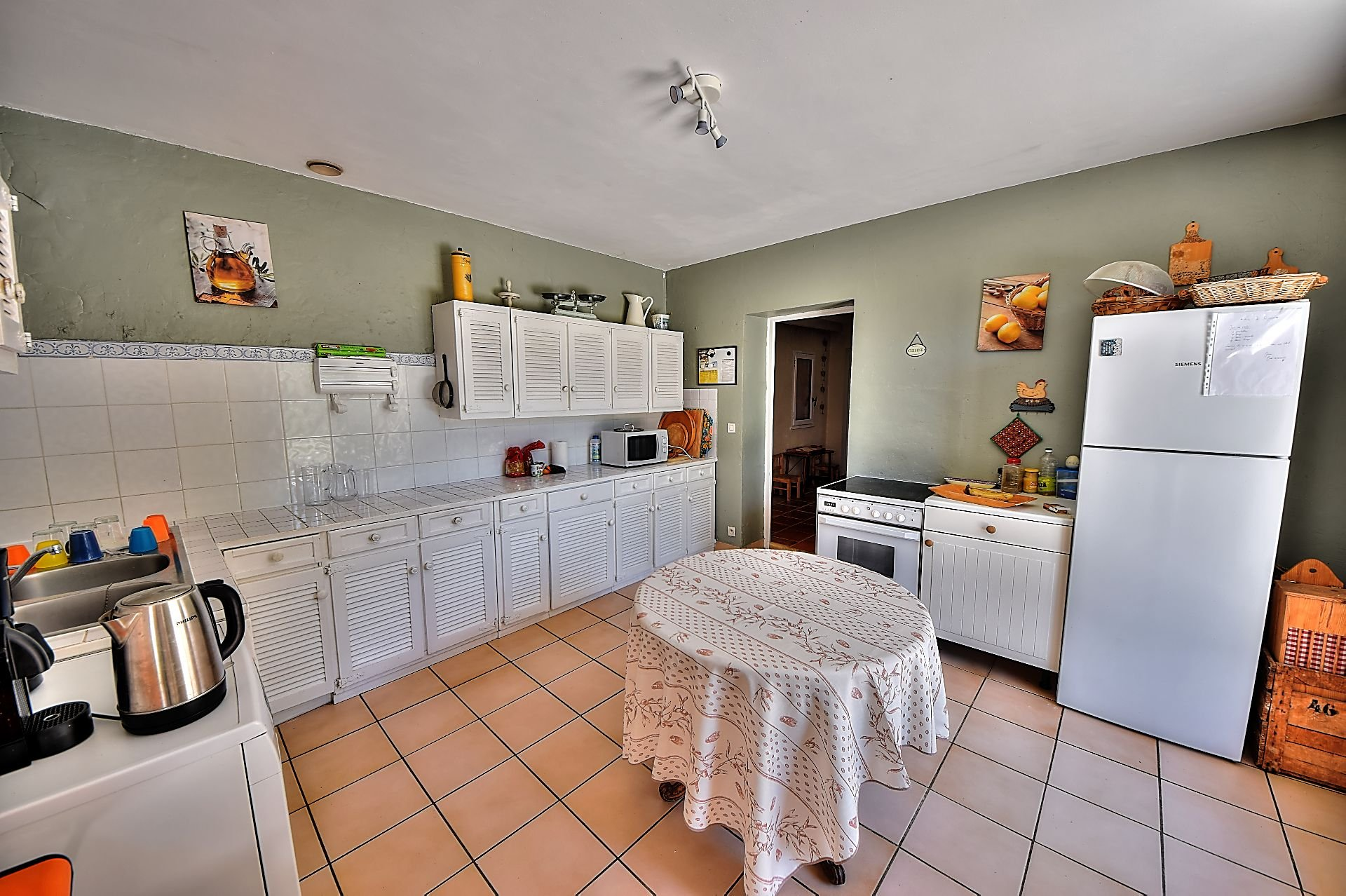 Kitchen from the Aups house