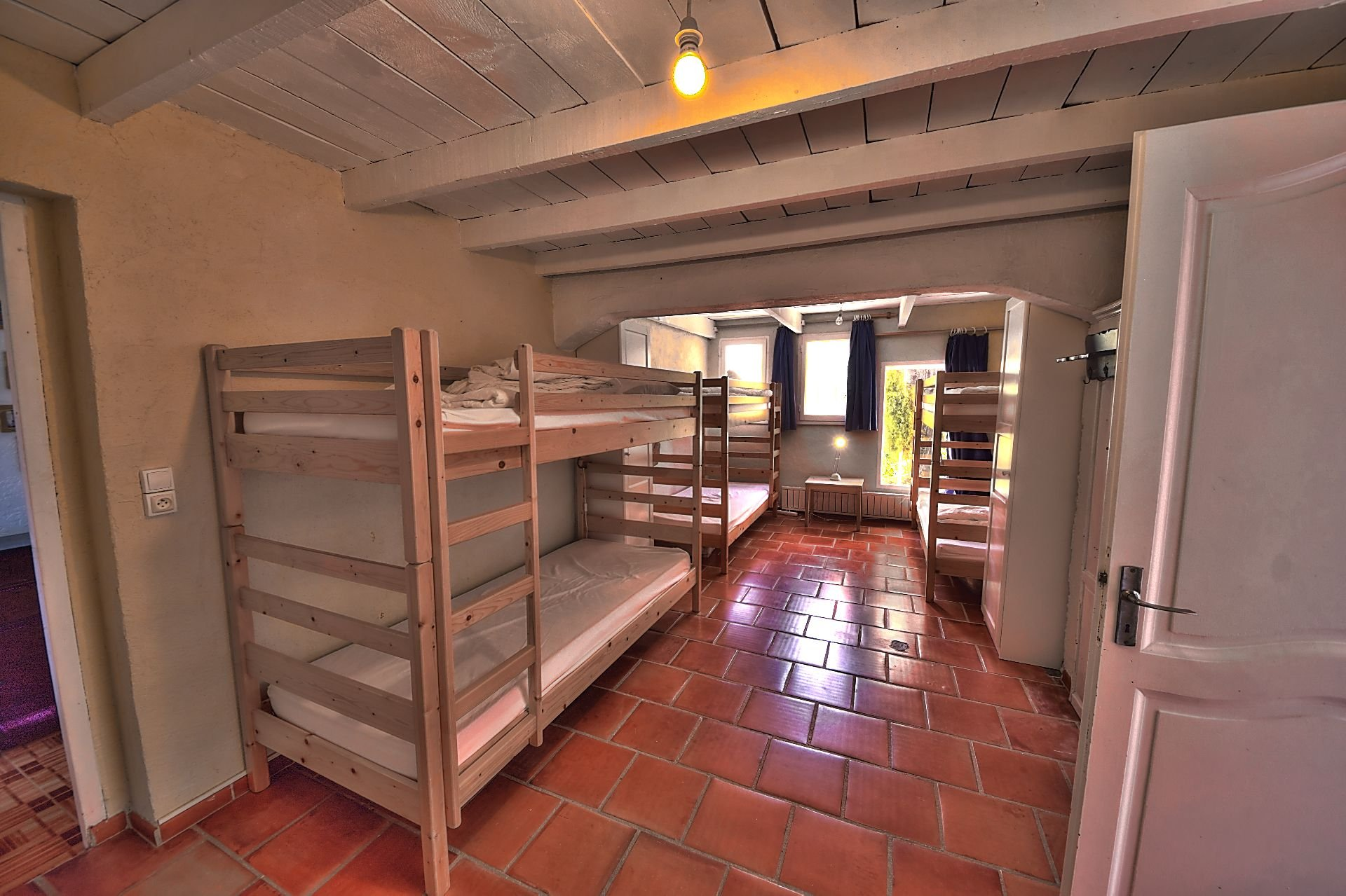 Children's dormitory in the single storey house of Aups
