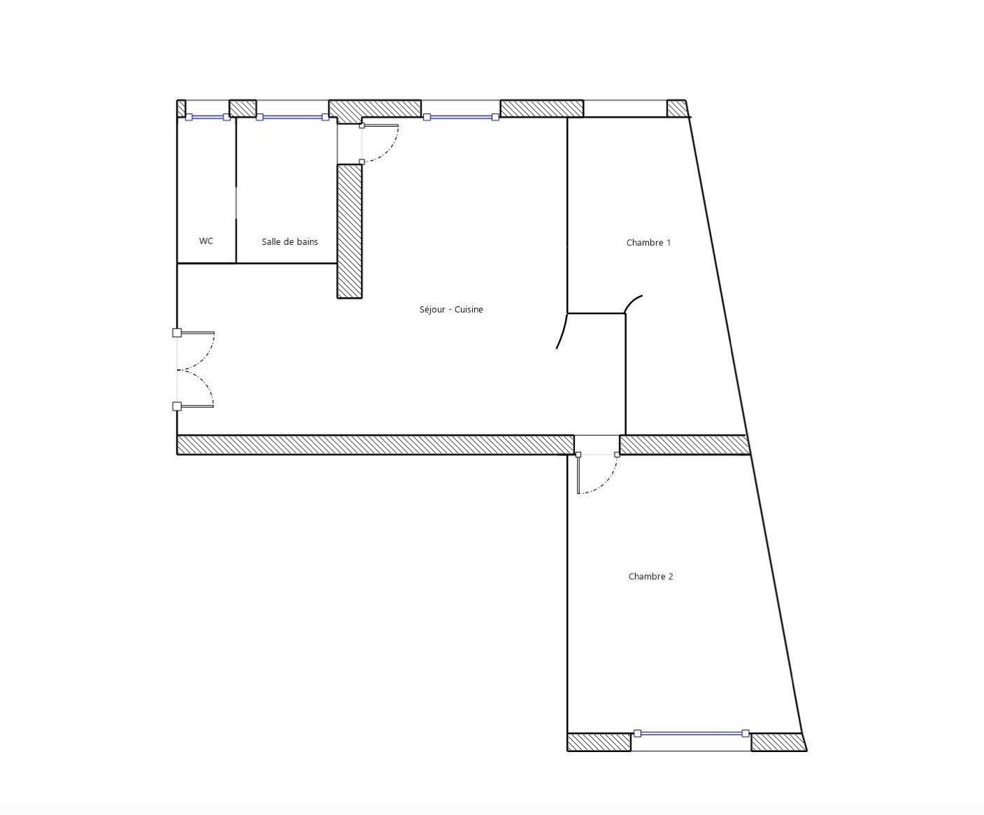 Belleville - Appartement de charme 57m2