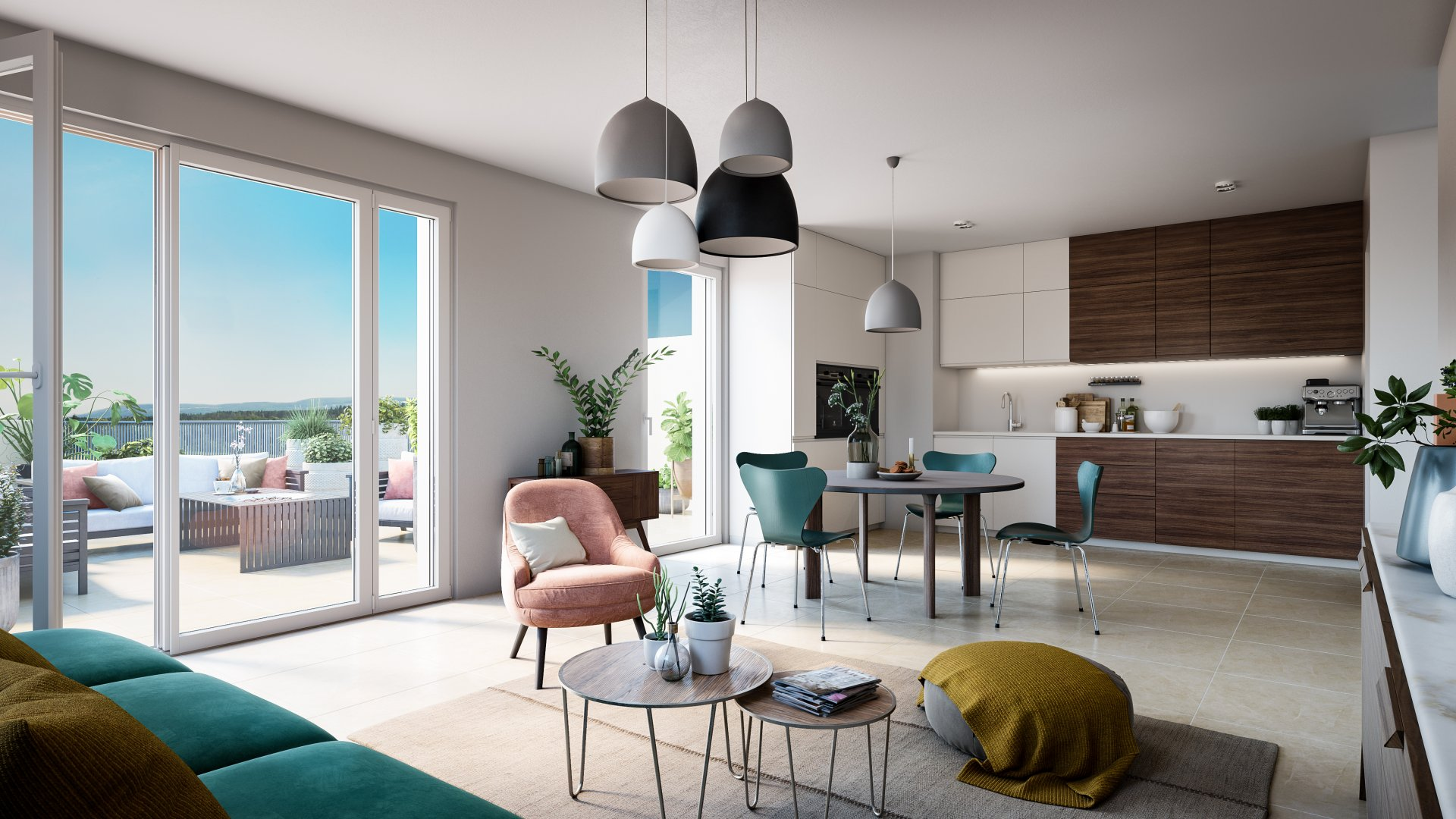 Appartement Neuf Type 2 avec terrasse - Centre-Village