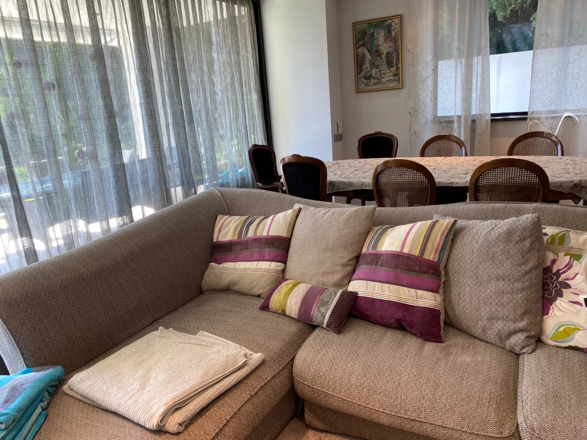 Belle villa climatisée vue mer Cap d'ANTIBES 3 chambres climatisée