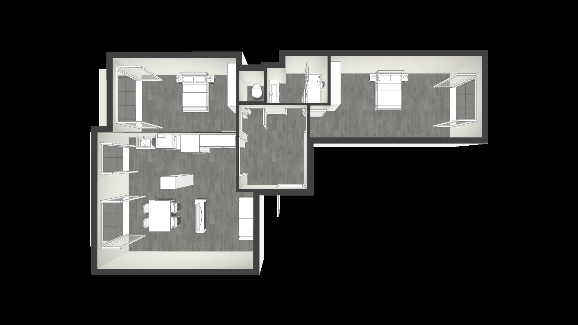 PARC IMPERIAL - Eglise Russe - 3P 85 m² - refait à neuf ! Balcons - 405.000 €
