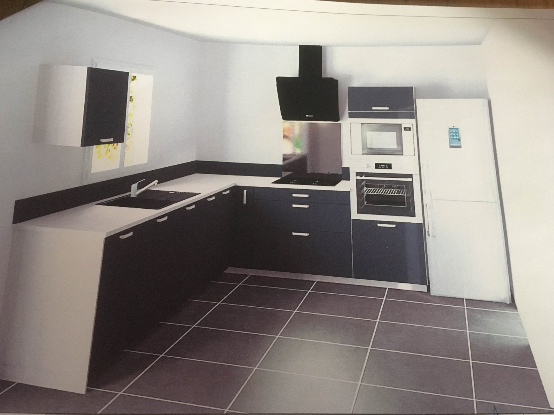 Fully equipped kitchen (when it will be installed).