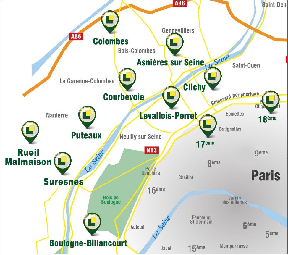 2P BALCON CAVE PARKING - MÉTRO 1 - MAIRIE DE PUTEAUX