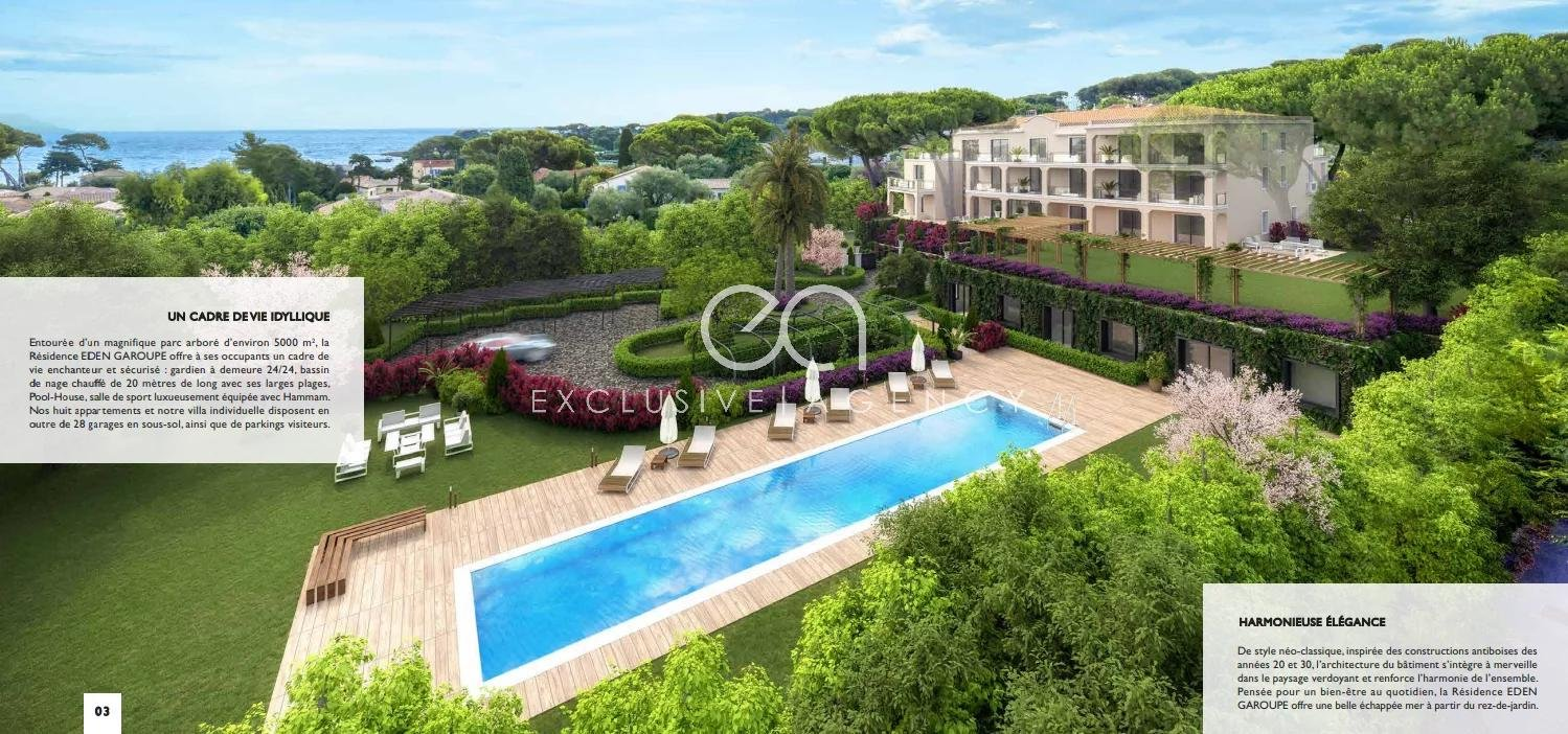 Cap d'Antibes La Garoupe - 3 Bedrooms apartment brand new