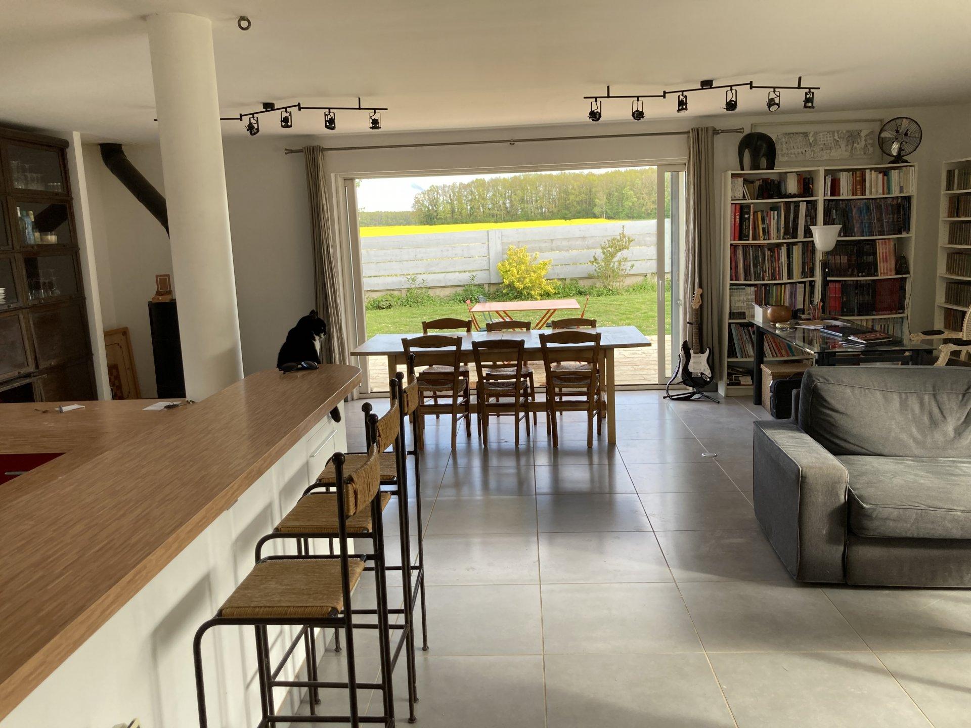 Maison 150 m² hab. de plain pied sur  1600m²