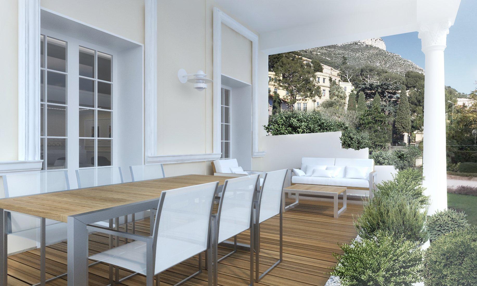 "CAP D'AIL ""Mala""     2 Bedrooms of 100m²    25m² Terrace   Sea View"