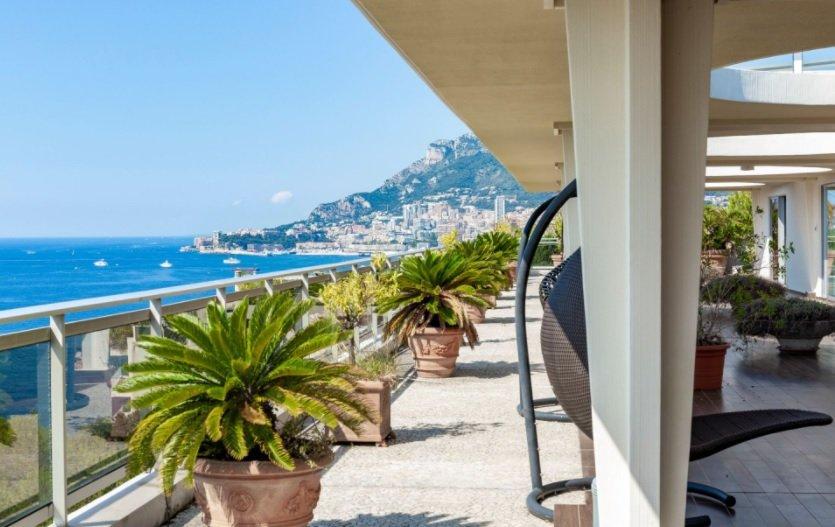 Roquebrune Cap Martin - penthouse avec vur mer panoramique