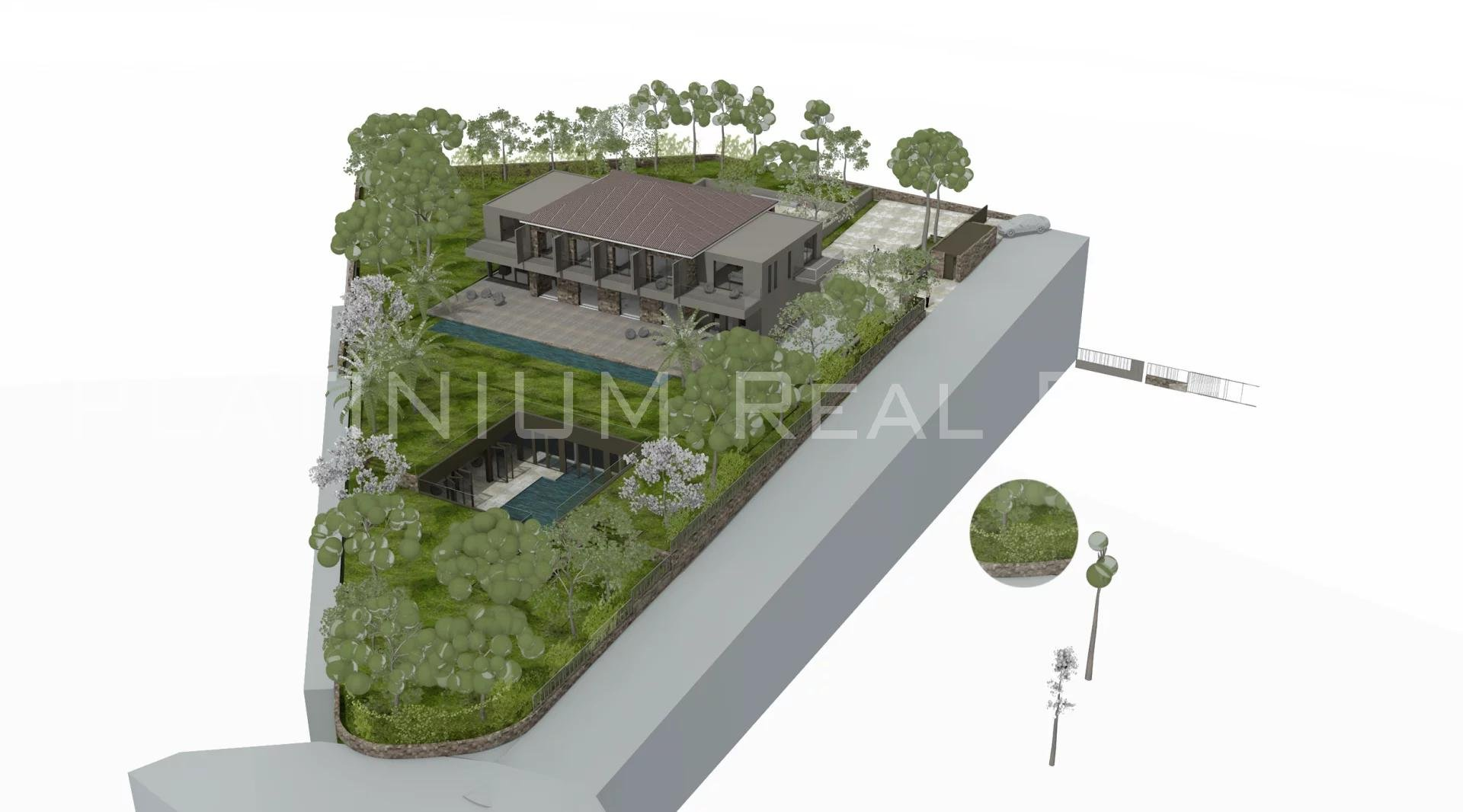 SAINT RAPHAEL - WATERFRONT LAND - 1.2 HECTARES - BUILDING PERMIT ACCEPTED