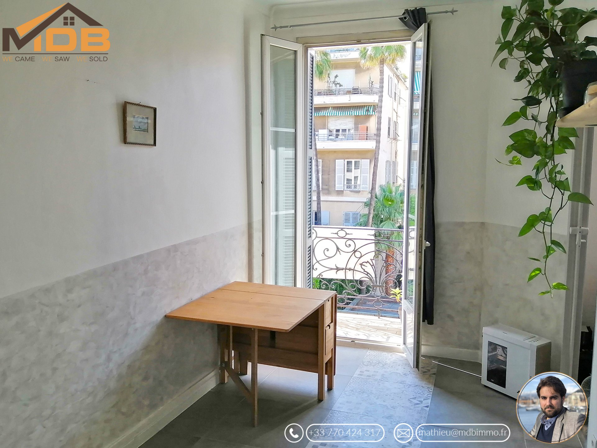 Nice Pastorelli - 2 pièces balcon climatisation