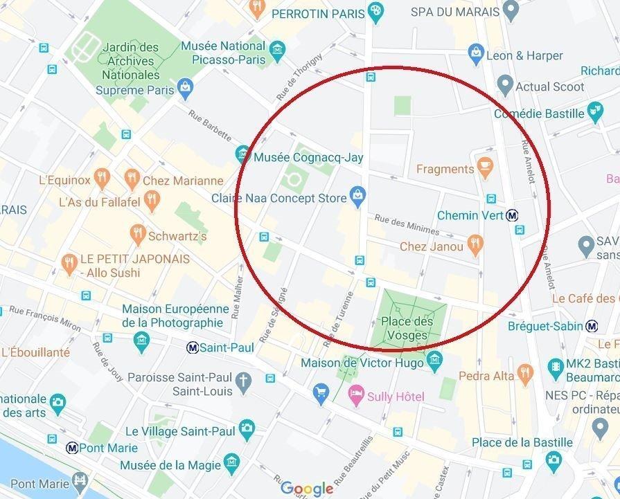 Location Local commercial - Paris 3ème Sainte-Avoye