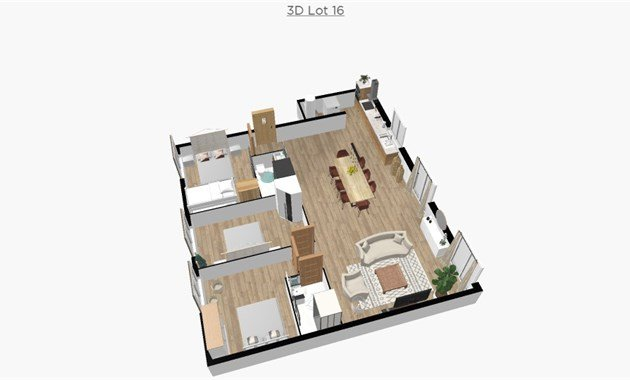 Lot 16, Large 3 bed apartment