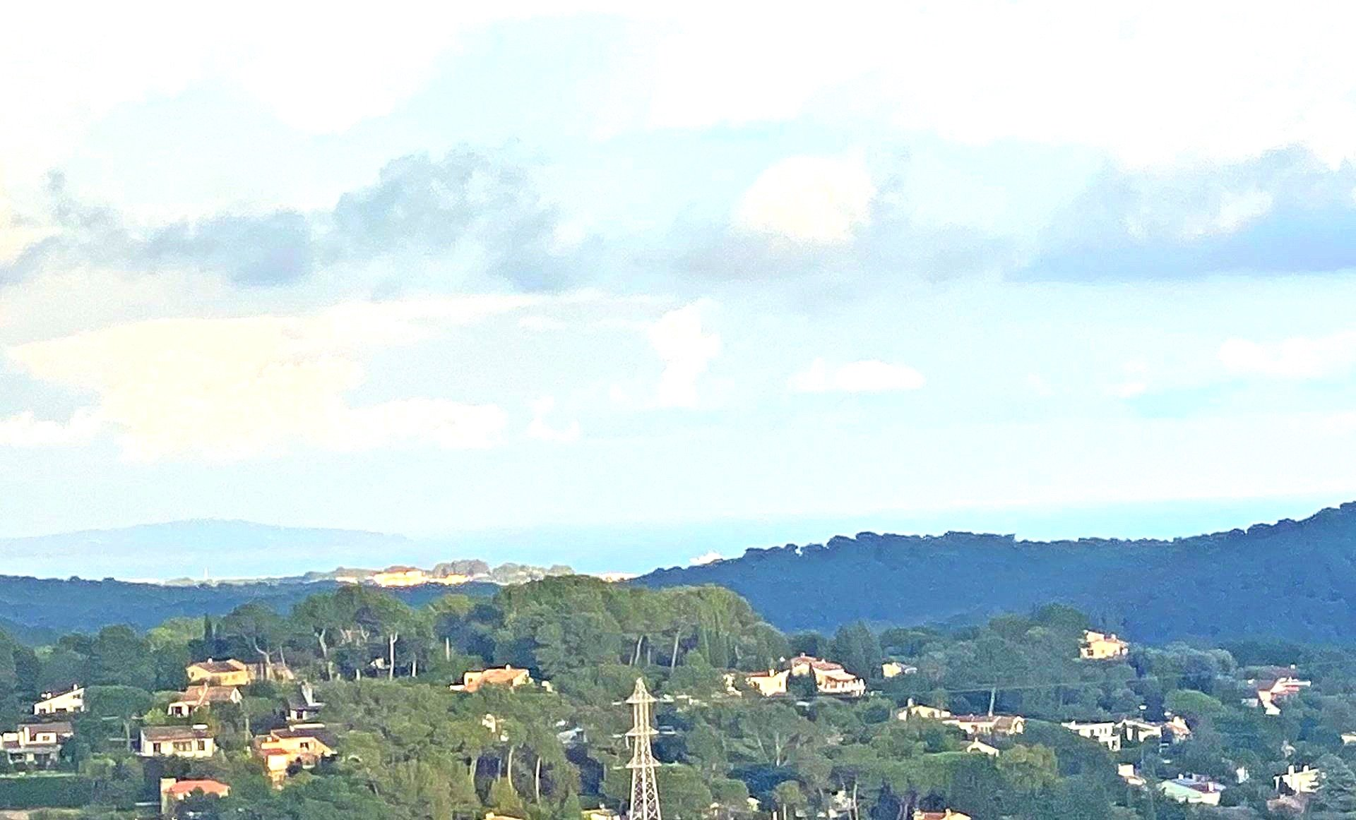 Mougins village, house with terraces with  sea view