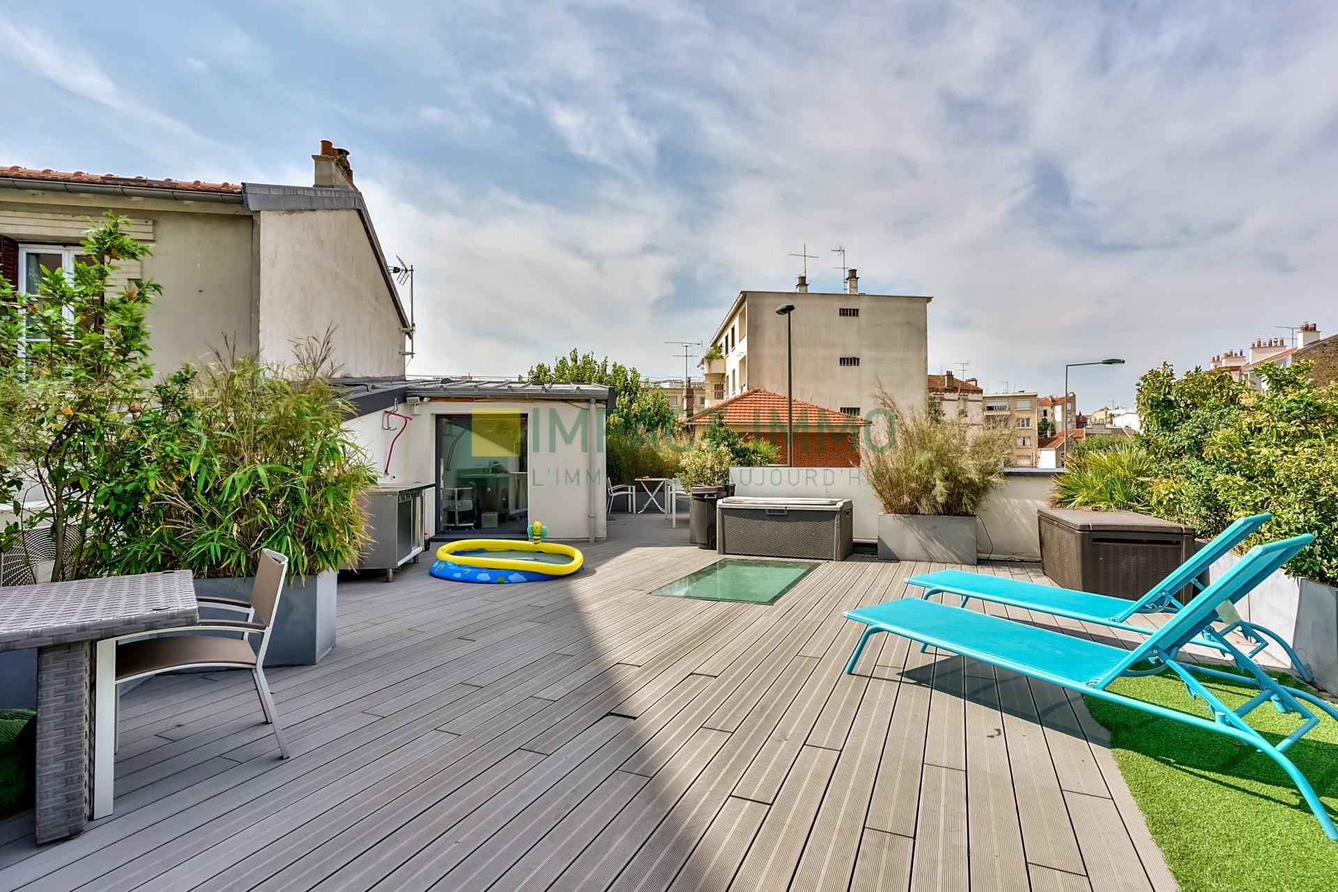 MAISON D'ARCHITECTE / GARAGE ET ROOF TOP