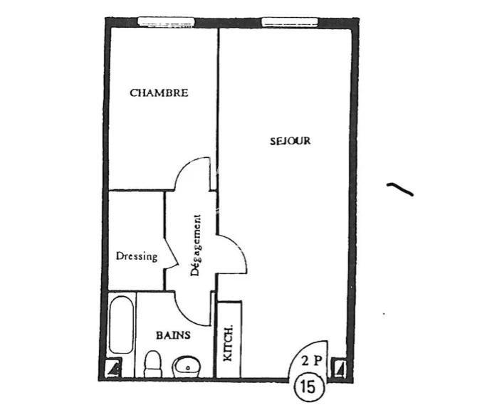 Carnolès - 2 pièces avec parking