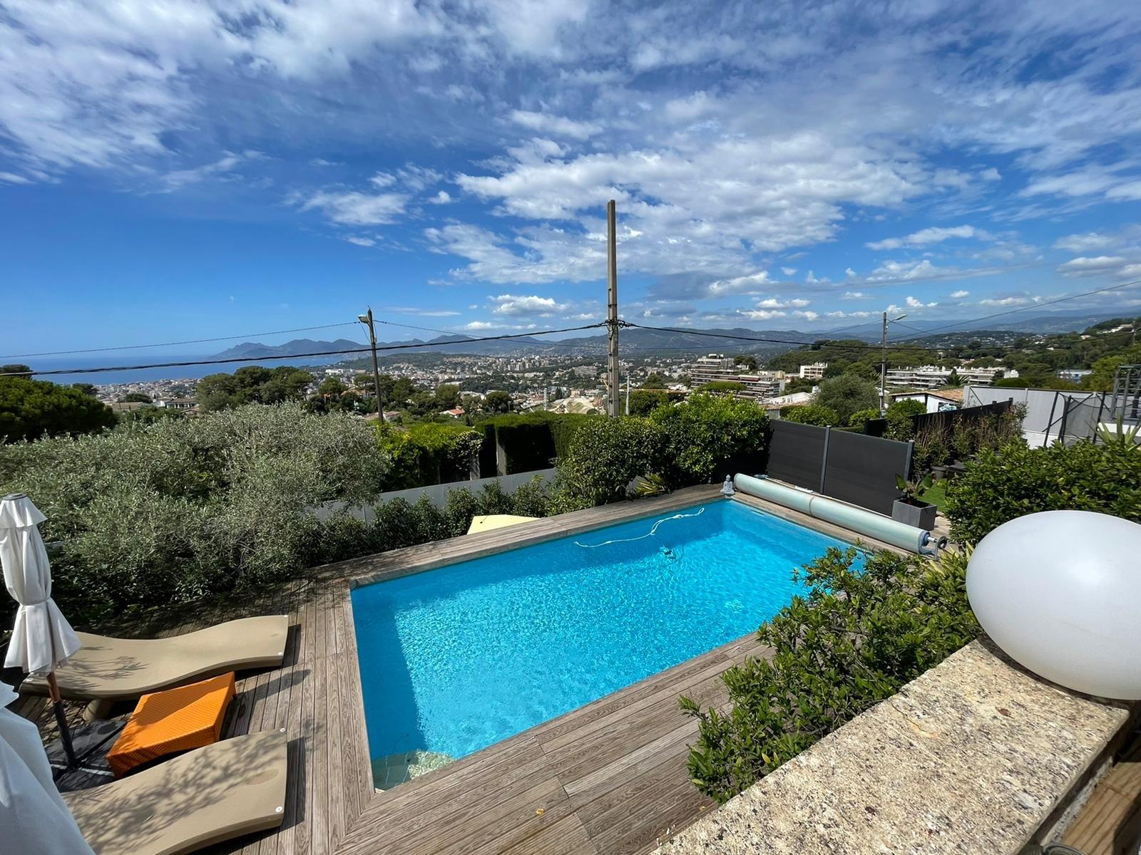 Villa contemporaine vue mer panoramique Le Cannet