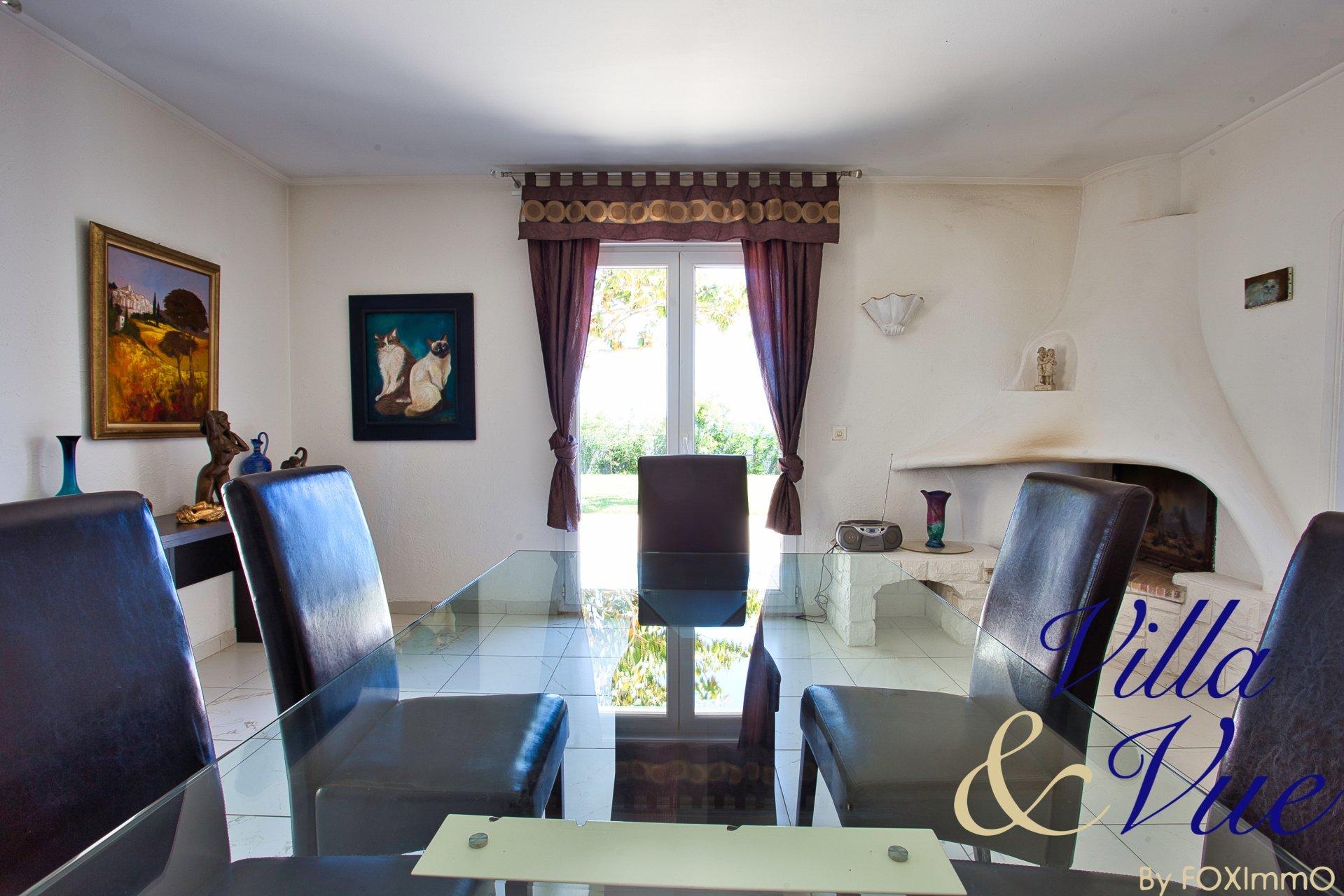 French Riviera, villa vue mer panoramique, piscine, jardin , 6 pièces