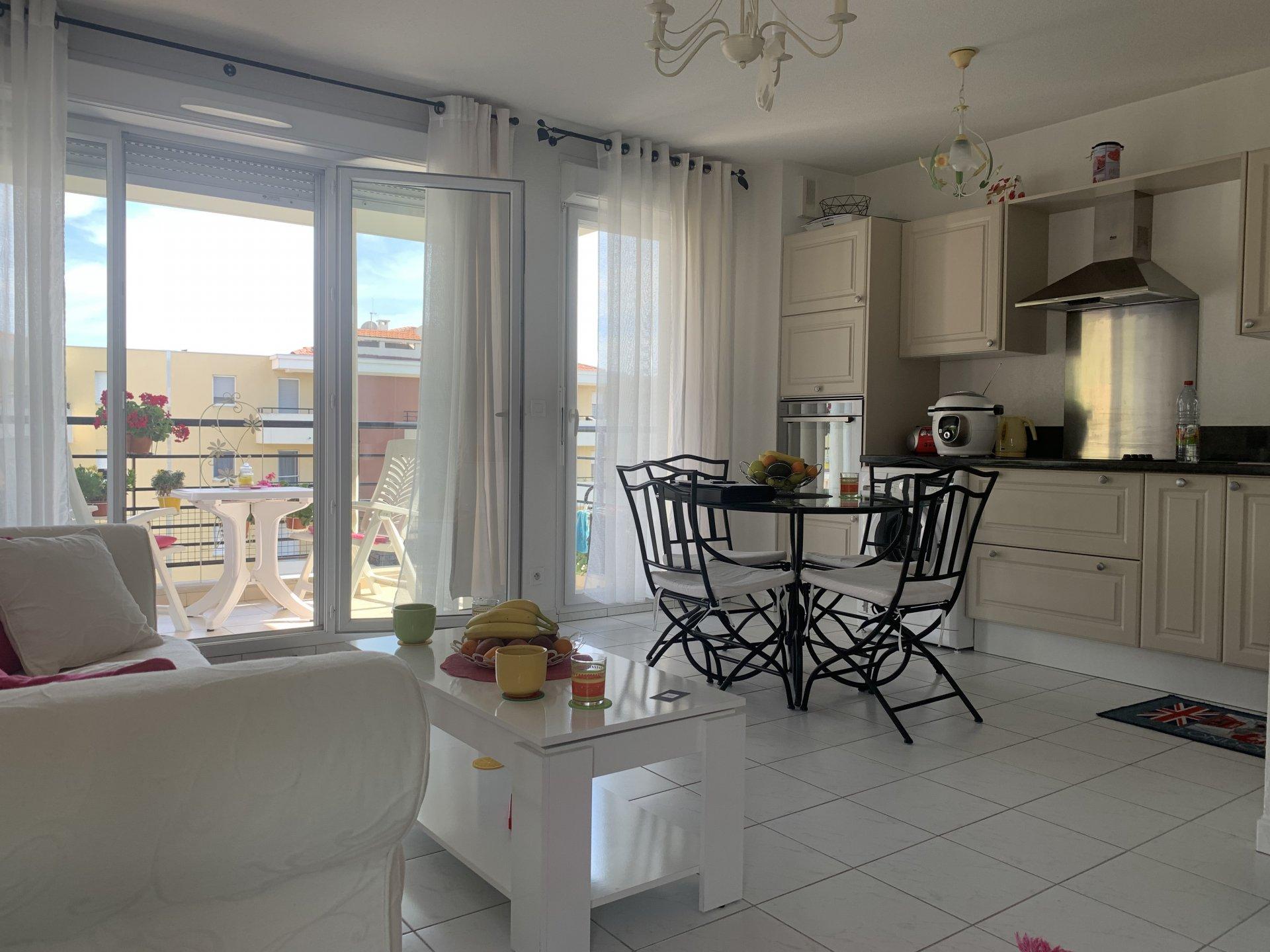 3P, Nice Ouest  - dernier étage avec terrasse et garage