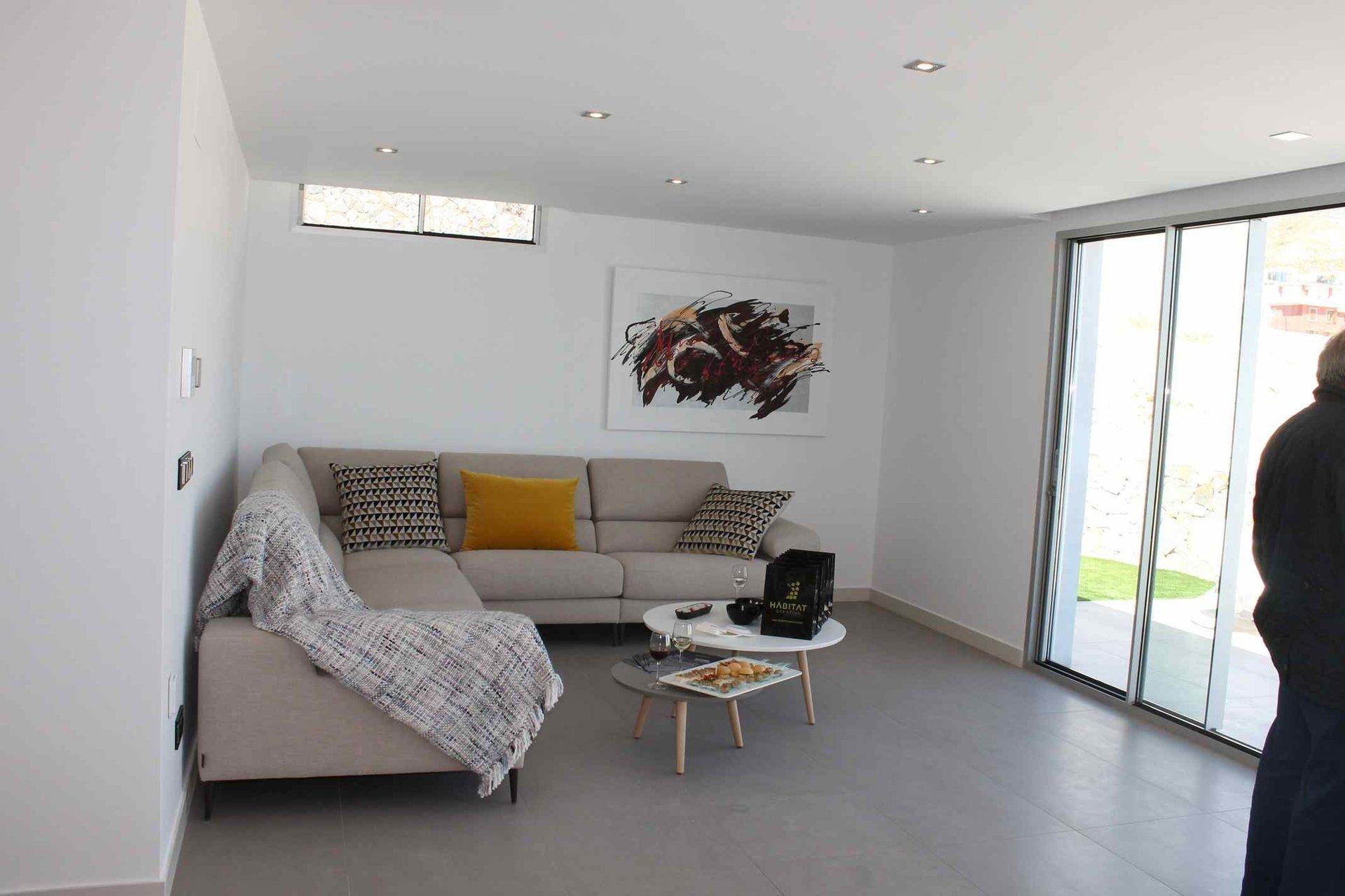 Modern ground floor luxury villa with sea view