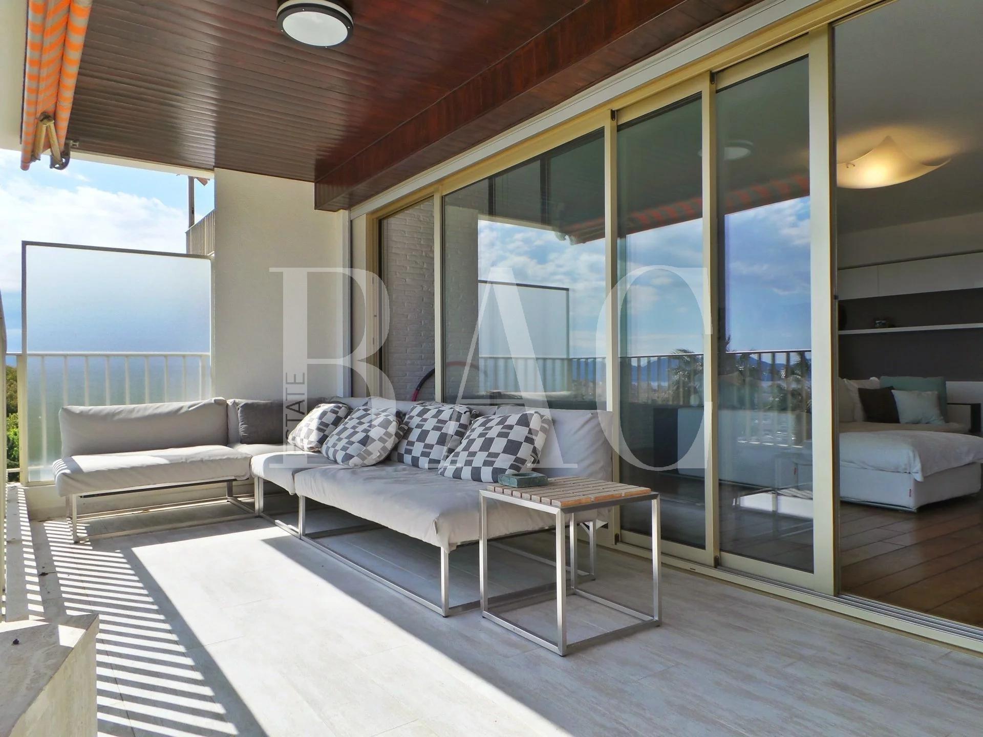Cannes, appartement à 2000 mètres du Palais des Festivals et profitant d'une vue mer panoramique