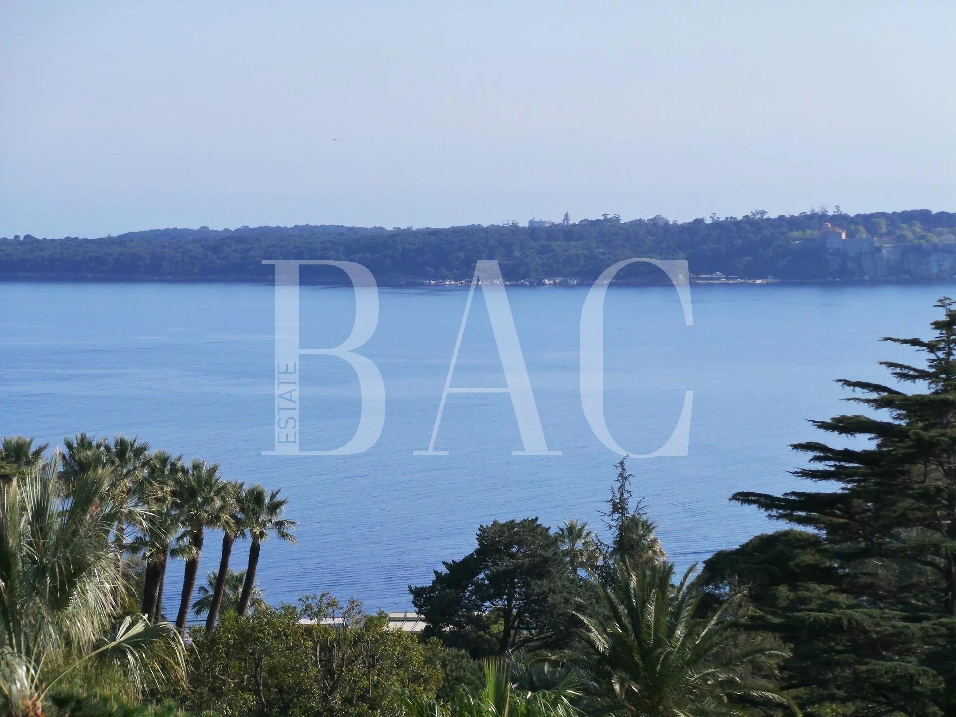 Cannes, Avenue du Roi Albert et avec vue mer panoramique