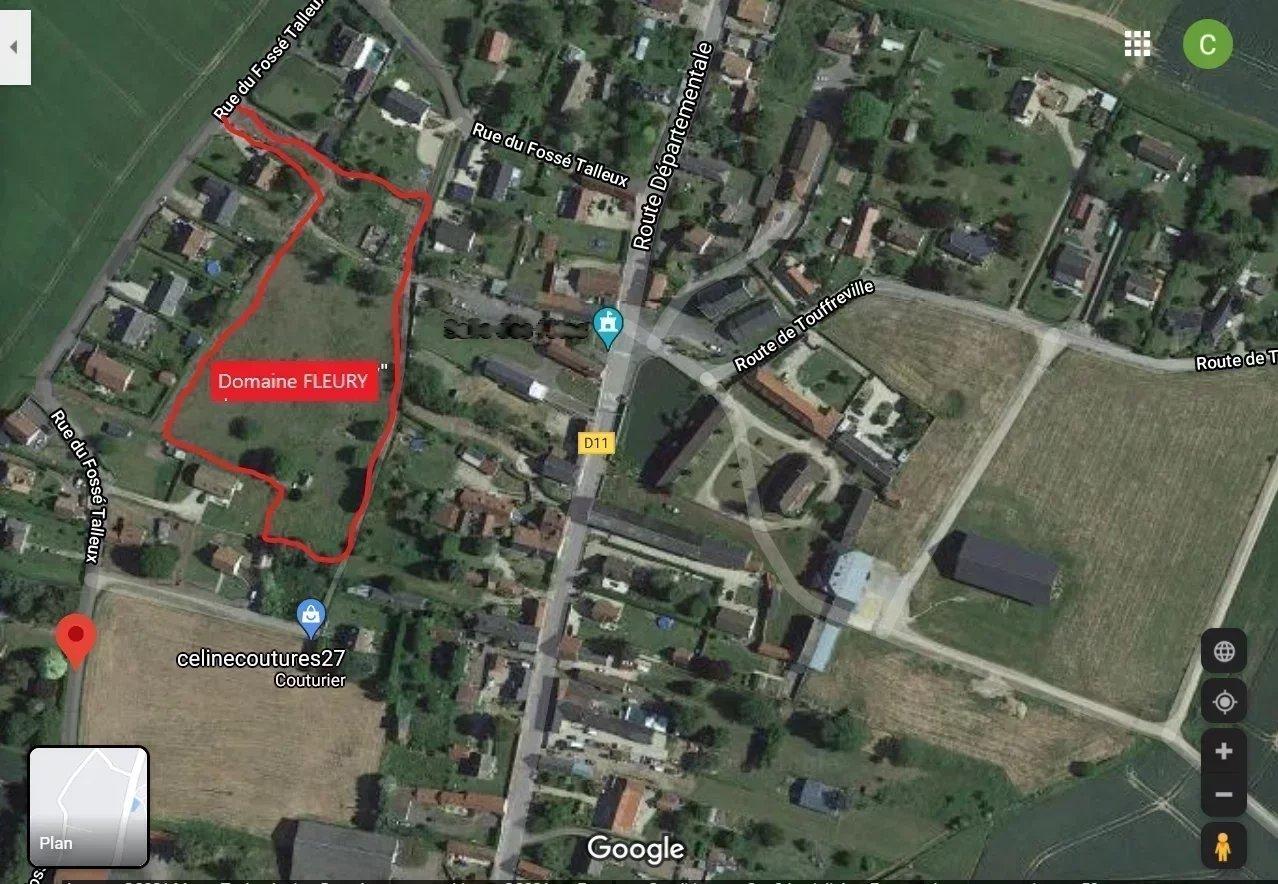 Terrain à bâtir viabilisé de 718 m² prix 39 9000 euros à 2 minutes de Fleury sur Andelle