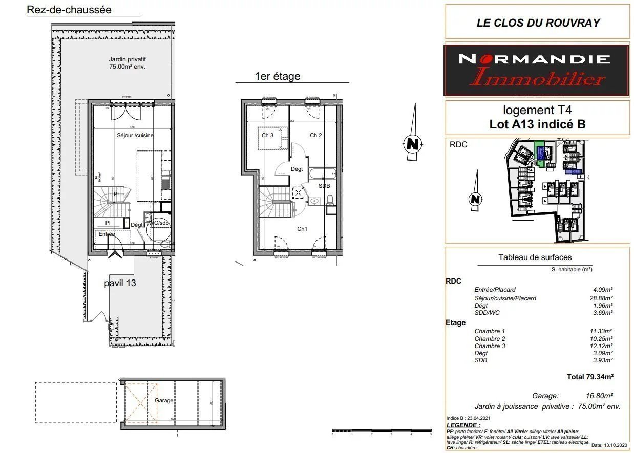 A vendre Maison T4 NEUF à St Etienne du Rouvray