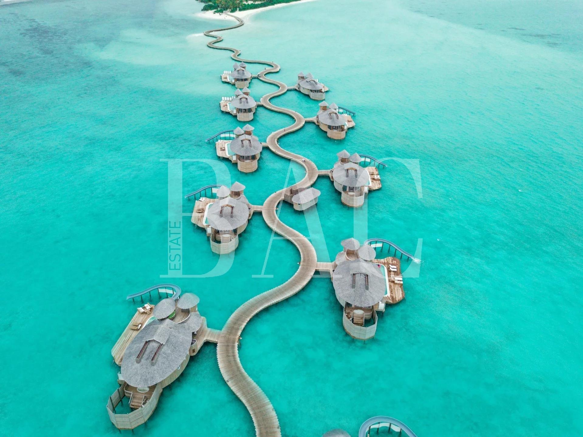 马尔代夫的高跷别墅