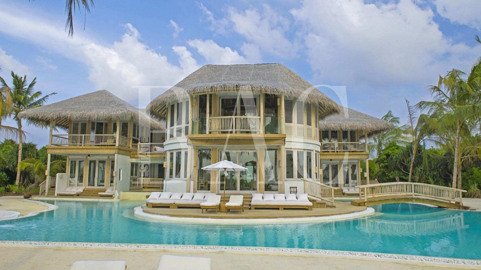 Villa sur une ile aux Maldives