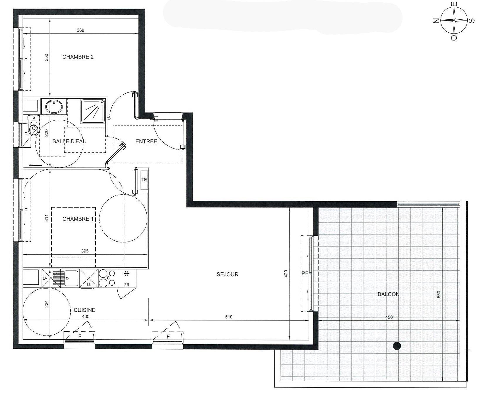 Nice St Sylvestre immeuble neuf 3p plan