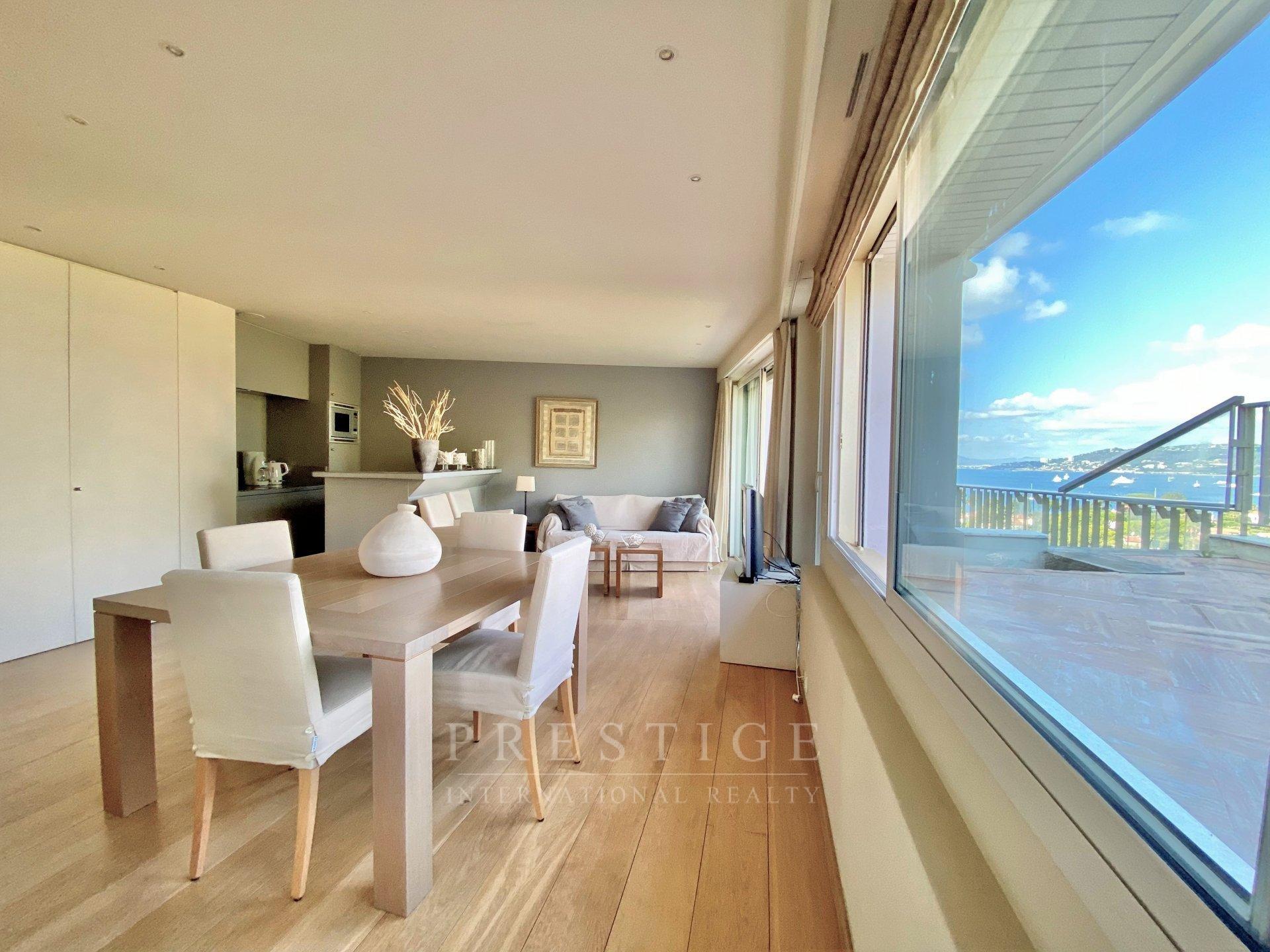 Cap d'Antibes, penthouse vue panoramique mer, piscine & garage