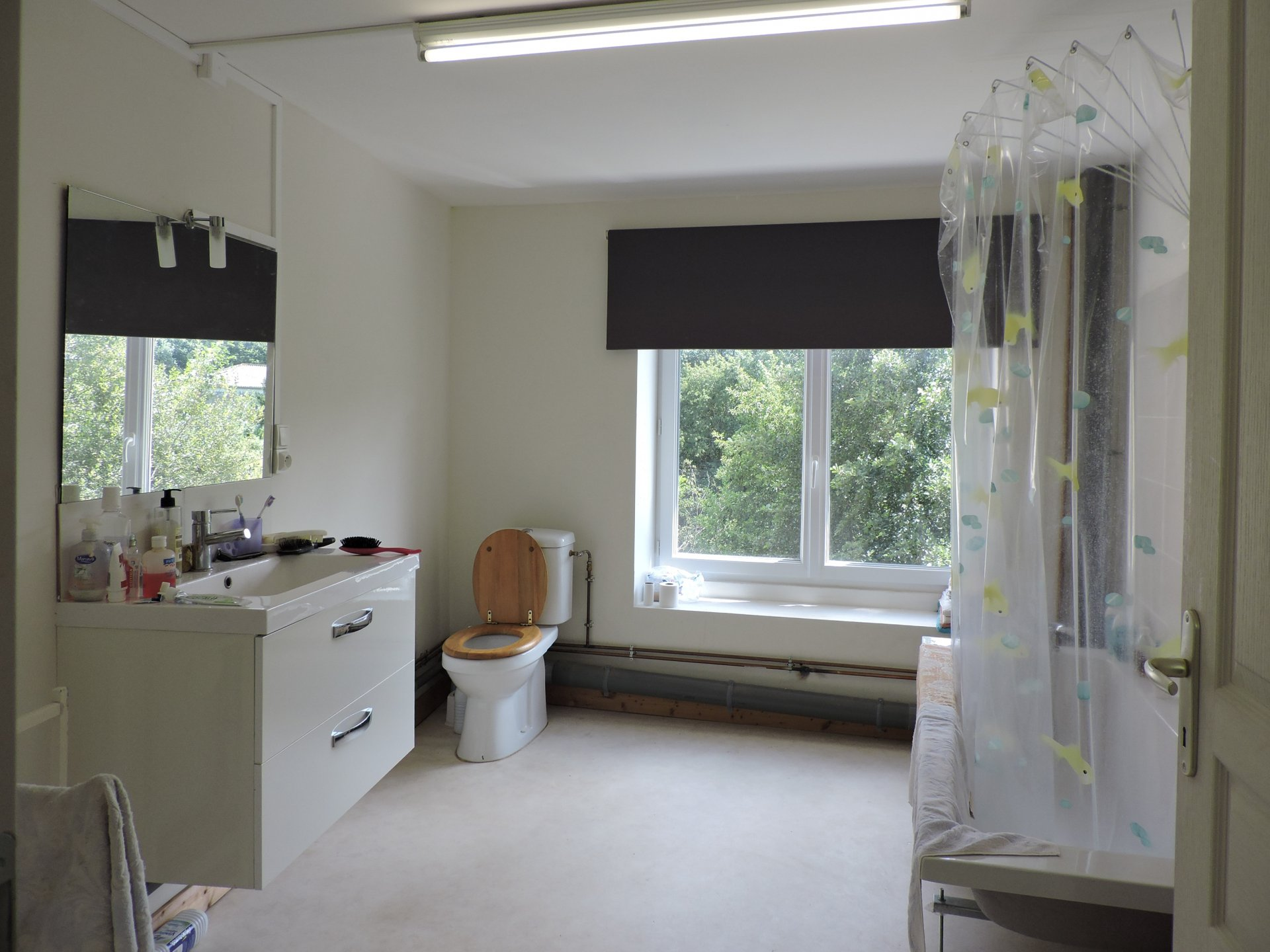 Right wing: Bathroom/wc of the 1st floor flat
