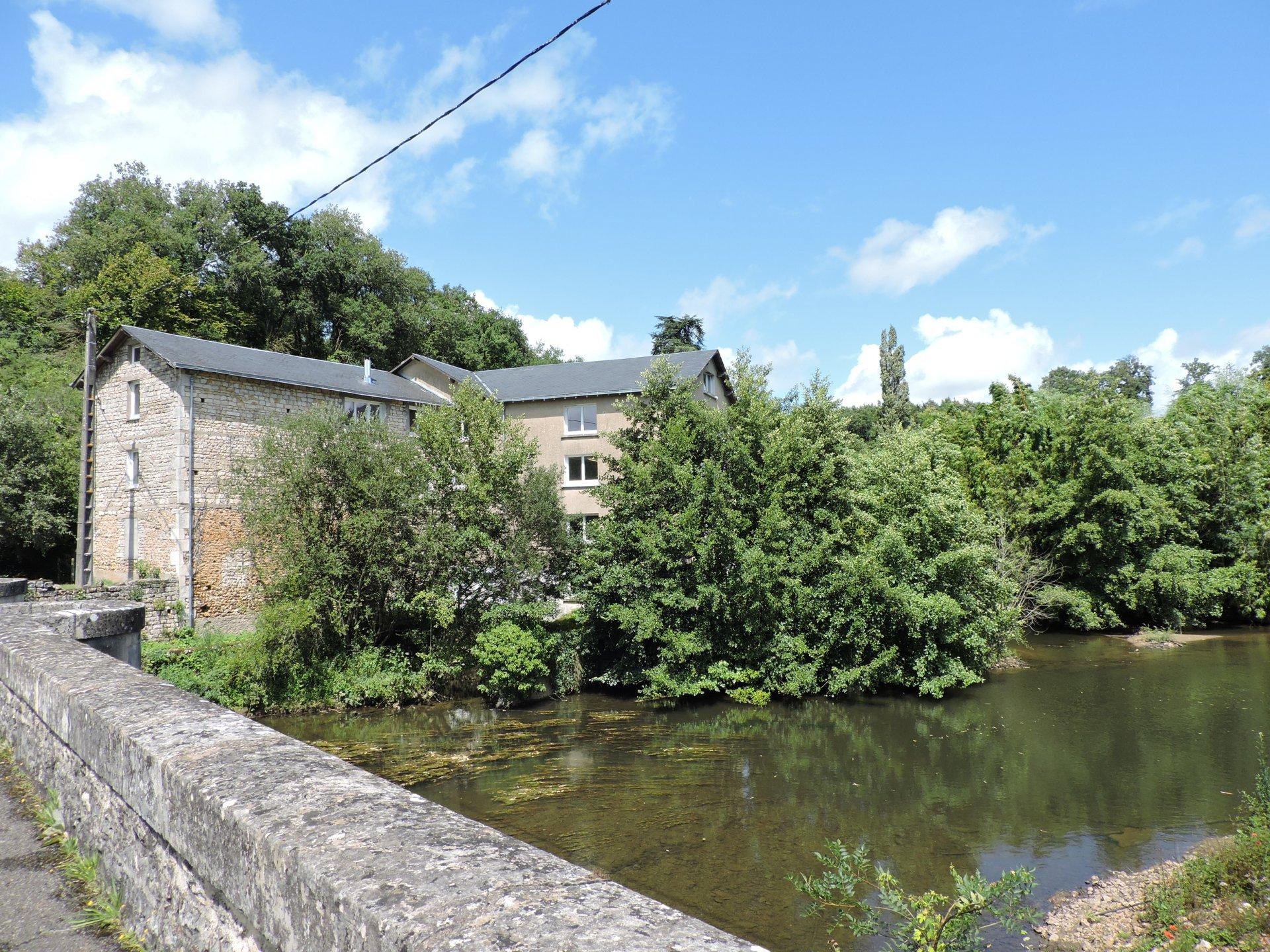 Huge watermill