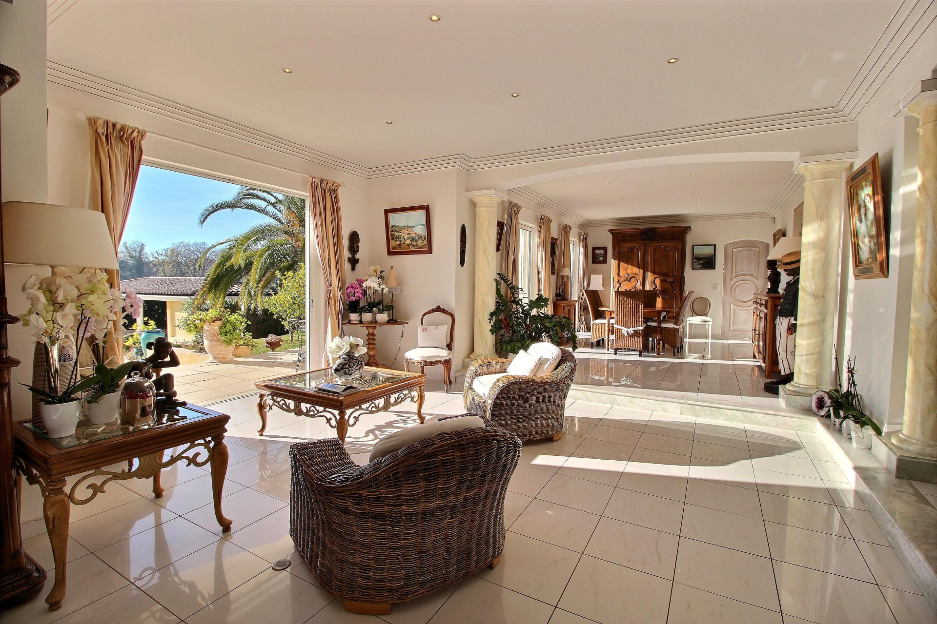 Luxury villa with beautiful large pool and gardens close to the village