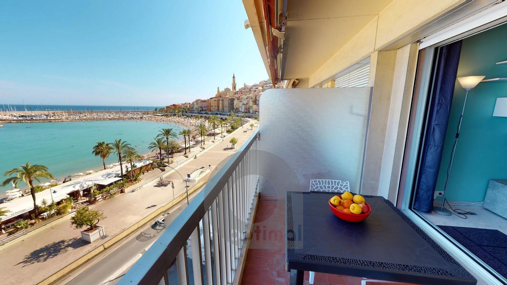 Magnifique 2P au 5ème étage face à la mer avec terrasse et parking