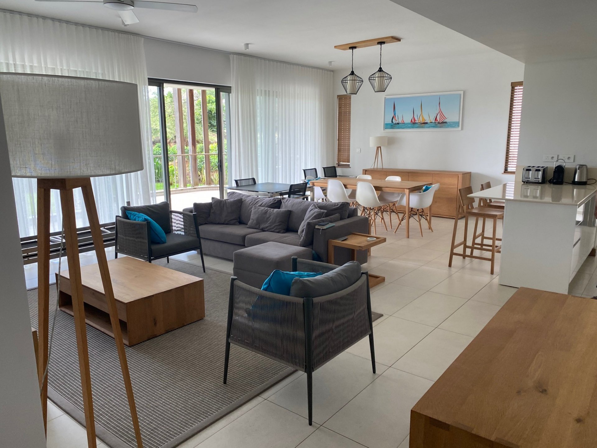 Superb apartment on the ground floor on a golf course